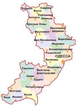 Одесса На Карте Украины