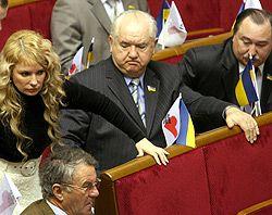 Юлия Тимошенко, Олег Билорус и Виктор Швец принимают участие в заседании Верховной Рады. Киев, 11 января