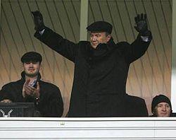 Віктор Янукович з сином та Рінат Ахметов