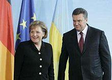 Янукович Меркель