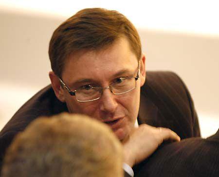 Юрий Луценко, о котором вспомнил новый председатель НСНУ, сильно засмущался