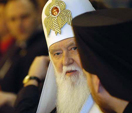 Ющенко горячо поддержал Патриарх киевский Филарет