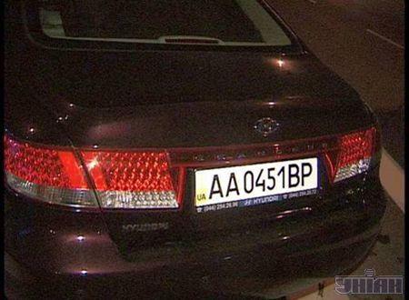 Автомобиль Нyundai-grandeur, за рулем которого находился Андрей Шкиль