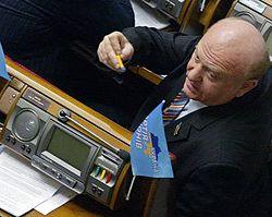 Василий Киселев на пленарном заседании Верховной Рады. Киев, 10 апреля