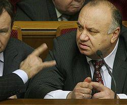Министр внутренних дел Украины Василий Цушко на заседании Верховной Рады. Киев, 19 апреля