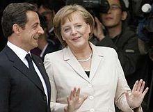 Николя Саркози та Ангела Меркель