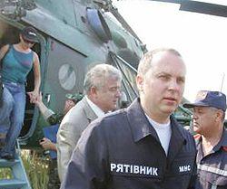 Министр по вопросам чрезвычайных ситуаций Нестор Шуфрич на четвертый день прибыл на место аварии во Львовской области. 19 июля