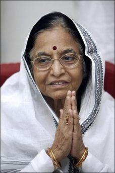 Пратібха Патіл (Pratibha Patil) перша жінка - президент Індії. Photo AFP