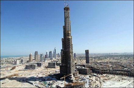 The world`s tallest building under construction, the Burj Dubai. Photo AP