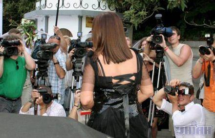 Народна артистка Молдови, України та СРСР, Герой України Софія Ротару перед початком святкування свого 60-річчя у Лівадійськом палаці в Ялті, 7 серпня 2007 р.