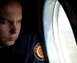 Нестор Шуфрич осматривает с борта вертолета населенные пункты, которые пострадали от урагана в Волынской области. 9 августа