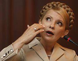 Лидер БЮТ Юлия Тимошенко дает интервью журналистам. Киев, 13 августа