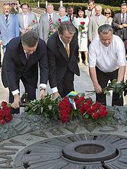 Янукович, Ющенко, Плющ
