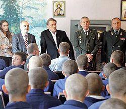 Виктор Ющенко общается с заключенными Бережанской воспитательной колонии для несовершеннолетних. 23 сентября