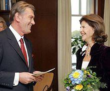 Виктор Ющенко и Королева Швеции Сильвия