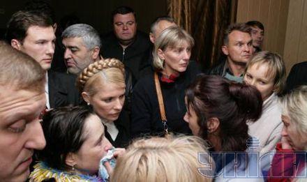 Юлия Тимошенко лично приехала в Днепропетровск, чтобы пообщаться пострадавшими от взрыва