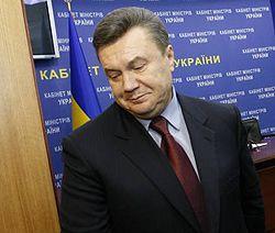 Виктор Янукович после брифинга в Кабинете Министров. Киев, 12 ноября