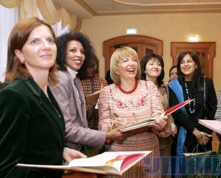 Екатерина Ющенко и жены глав иностранных дипломатических миссий в Украине