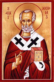 В фольклорных произведениях Западной Европы святитель иногда ассоциируется с образом Санта-Клауса.
