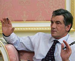Виктор Ющенко дает эксклюзивное интервью агентству УНИАН. Киев, 21 января
