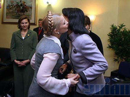 Юлия Тимошенко и государственный секретарь США Кондолиза Райс