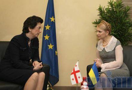 Юлия Тимошенко и председатель парламента Грузии Нино Бурджанадзе