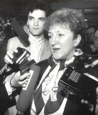 Галина Старовойтова и Руслан Линьков