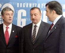 Віктор Ющенко, Михайло Саакашвілі та Ільхам Алієв