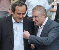 Григорий Суркис и Мишель Платини во время встречи. Киев, 3 июля