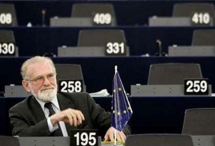 ... в зале Европарламента