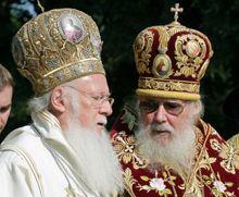 Вселенский Патриарх Варфоломий І и Святийший Патриарх Московский и всея Руси Алексий ІІ
