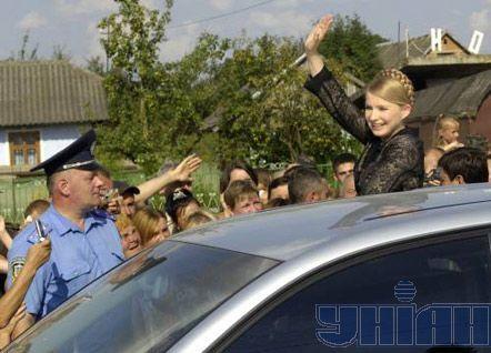 Премьер-министр Украины Юлия Тимошенко в с. Монастырец (Городоцкий р-н, Львовская обл.)