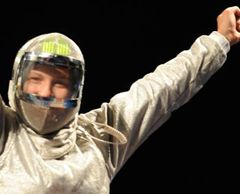 Olga Kharlan has won the gold in the Women`s Team Sabre event at the Beijing 2008 Olympic Games on August 14