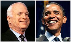 Джон Маккейн и  Барак Обама