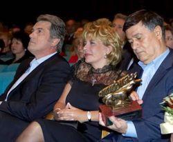 Супруги Ющенко и Роман Балаян