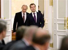 Путин, Медведев. Фото REUTERS
