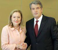Виктор Ющенко и Бенита Ферреро-Вальднер