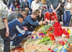 Студенты университета на месте убийства