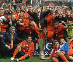 Шахтар радіє перемозі у Кубку УЄФА. Фото з офіційного сайту клубу