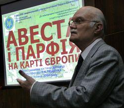 Проф. Тищенко презентует гипотезу о влиянии Авесты и древней Парфии на Европу