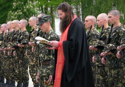 Процедура освящения военнослужащих, принявших присягу