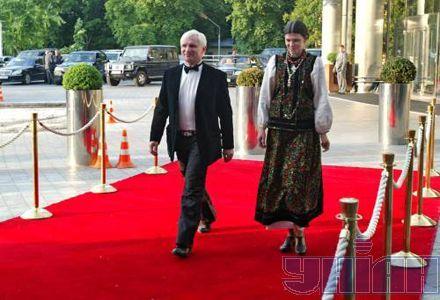 Олег Скрипка со своей женой Наталией