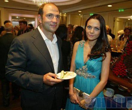 Лев Парцхаладзе со своей женой Олесей