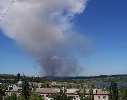 Хмара диму над Донецьком, що утворилася за 20-30 хв. після вибуху.