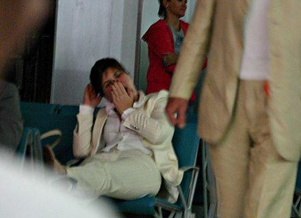 Народний депутат Тетяна Засуха в аеропорту, повертаючись додому після шоу: спати хочеться…