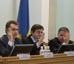 Члени ЦВК голосують за реєстрацію Людмили Супрун кандидатом у Президенти України . Київ, 10 листопада