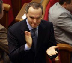 Нестор Шуфрич після голосування за відставку Юрія Луценка у ВР. Київ, 28 січня