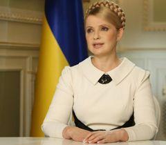Юлія Тимошенко під час телевізійного звернення до народу. 13 лютого