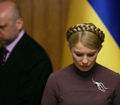 Yulia Tymoshenko before the session of the Cabinet of Ministers. Kyiv, March 1