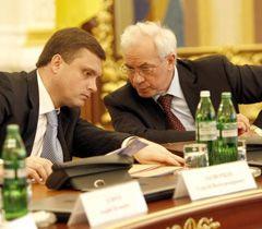 Сергій Льовочкін і Микола Азаров під час засідання Комітету з економічних реформ в Адміністрації Президента
